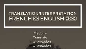 French English Translation/Interpretation