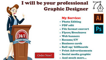 I Will Prepare Any Graphic Design Work For You