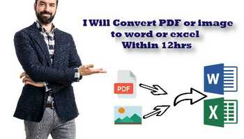 I will convert PDF or image to word or excel